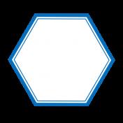 Pocket Basics 2 Label- Layered Template- Hexigon Small