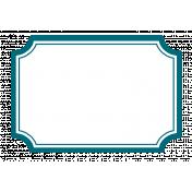 Pocket Basics 2 Label- Layered Template- Rectangle Scooped Corners Extra Large