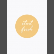 Fresh Start Journal Cards- Start- 3x4