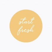 Fresh Start Journal Cards- Start- 4x4
