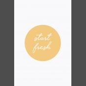 Fresh Start Journal Cards- Start- 4x6