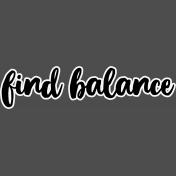 Pocket Basics 2 Pocket Title- Layered Template- Find Balance