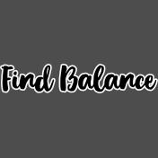 Pocket Basics 2 Pocket Title- Layered Template- Find Balance 2