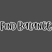 Pocket Basics 2 Pocket Title- Layered Template- Find Balance 3