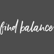 Pocket Basics 2 Pocket Title- Template- Find Balance 4