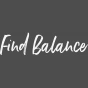 Pocket Basics 2 Pocket Title- Template- Find Balance 5