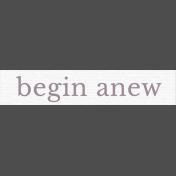 Fresh Start Elements- Word Art- begin anew