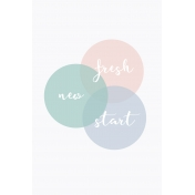 Fresh Start Journal Cards- Venn 1- 4x6
