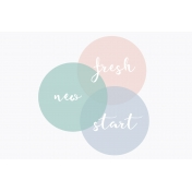 Fresh Start Journal Cards- Venn 1- 6x4