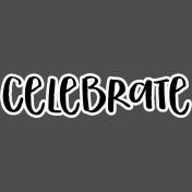 Pocket Basics 2 Pocket Title- Layered Template- Celebrate