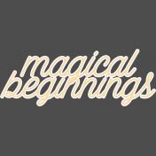 Fresh Start Elements- Word Art- Magic