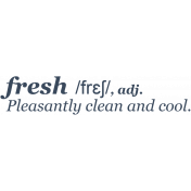Fresh Start Elements- Word Art- Fresh Dictionary 2