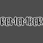 Pocket Basics 2 Pocket Title- Layered Template- Remember