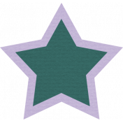The Good Life: August Bits & Pieces- Green Star With Purple Outline