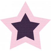 The Good Life: August Bits & Pieces- Purple Star With Pink Outline