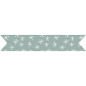 The Good Life: August Bits & Pieces- Blue Starry Banner Sticker