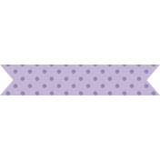 The Good Life: August Bits & Pieces- Purple Dotted Banner Sticker