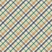 The Good Life: August Papers 2- Green Tan Purple Plaid