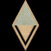 The Good Life: August- Wood Diamond Clip
