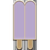 The Good Life: August- Lavender Popsicle Enamel Pin