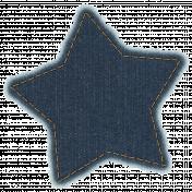 Cozy Kitchen Stitched Denim Star