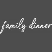 Cozy Kitchen Family Dinner Word Art