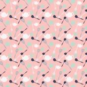 Cozy Kitchen- Pink Kitchen Utensil Paper