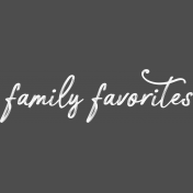 Cozy Kitchen Family Favorites Word Art