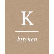 Cozy Kitchen K Kitchen Word Art