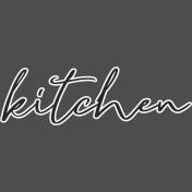 Cozy Kitchen- Kitchen Word Art