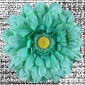 Cozy Kitchen Teal Flower