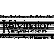 Vintage Kitchen Graphics Stamp Kelvinator