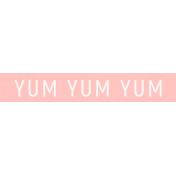 Cozy Kitchen Yum Word Art