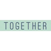Cozy Kitchen Together Word Art