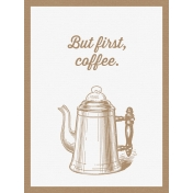 Cozy Kitchen Vintage Graphic Journal Card Coffee