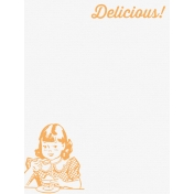 Cozy Kitchen Vintage Graphic Journal Card Delicious