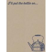 Cozy Kitchen Vintage Graphic Journal Card Kettle 2