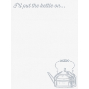 Cozy Kitchen Vintage Graphic Journal Card Kettle 1