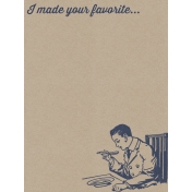 Cozy Kitchen Vintage Graphic Journal Card Favorite 2