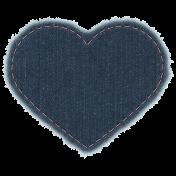 Cozy Kitchen - Denim Heart Patch