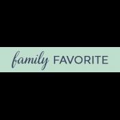 Cozy Kitchen- Family Favorite Word Strip