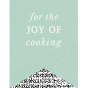 Cozy Kitchen- Joy Of Cooking Label