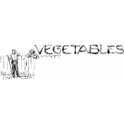 Vintage Kitchen Graphics- Vegetables Word Art Stamp