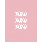 A Good Life In Pockets- January 2019 Filler Cards- XOXO (3x4)