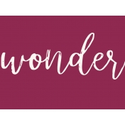 A Good Life In Pockets- January 2019 Filler Cards- Wonder (4x3)