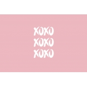 A Good Life In Pockets- January 2019 Filler Cards- XOXO (6x4)