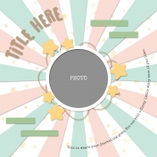 Big Beautiful Burst Templates - Circle Picture Frame