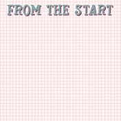 A Good Life In Pockets- January 2019 Journal Cards- From the Start Word Art on Grid Paper (4x4)