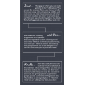 Stories To Tell- Traveler's Notebook Template 3 (Standard)