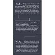 Stories To Tell- Traveler's Notebook Template 3 (XL)